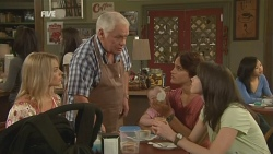 Donna Freedman, Lou Carpenter, India Napier, Declan Napier, Kate Ramsay in Neighbours Episode 5926