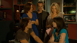 Declan Napier, Rebecca Napier, Paul Robinson, Donna Freedman, Kate Ramsay in Neighbours Episode 5939