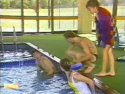 Tony Romeo, Sally Wells, Scott Robinson, Charlene Mitchell in Neighbours Episode 0670