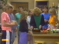 Scott Robinson, Henry Ramsay, Tony Romeo, Charlene Mitchell, Sally Wells, Madge Bishop, Mike Young, Jane Harris in Neighbours Episode 0670