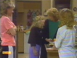 Scott Robinson, Charlene Mitchell, Madge Bishop, Sally Wells in Neighbours Episode 0670
