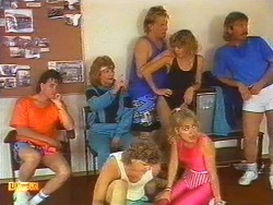 Mike Young, Madge Bishop, Henry Ramsay, Scott Robinson, Jane Harris, Charlene Mitchell in Neighbours Episode 0670