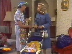Nell Mangel, Jamie Clarke, Eileen Clarke in Neighbours Episode 0671