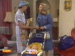 Nell Mangel, Jamie Clarke, Eileen Clarke in Neighbours Episode 0671