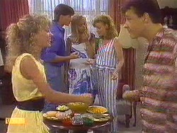 Charlene Mitchell, Mike Young, Jane Harris, Sally Wells, Tony Romeo in Neighbours Episode 0672