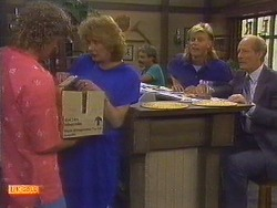 Henry Ramsay, Madge Bishop, Scott Robinson, Graham Clifford in Neighbours Episode 0672