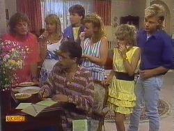 Henry Ramsay, Jane Harris, Tony Romeo, Mike Young, Sally Wells, Charlene Robinson, Scott Robinson in Neighbours Episode 0672