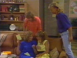 Madge Bishop, Henry Ramsay, Charlene Mitchell, Scott Robinson in Neighbours Episode 0672