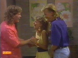 Henry Ramsay, Charlene Robinson, Scott Robinson in Neighbours Episode 0672