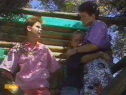 Todd Landers, Katie Landers, Lucy Robinson in Neighbours Episode 0674