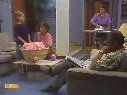 Katie Landers, Todd Landers, Lucy Robinson, Jim Robinson in Neighbours Episode 0674