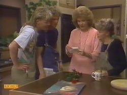 Scott Robinson, Henry Ramsay, Madge Ramsay, Charlene Robinson in Neighbours Episode 0674