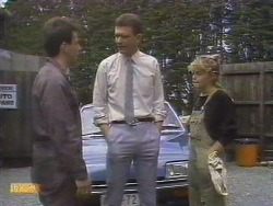 Tony Romeo, Des Clarke, Charlene Robinson in Neighbours Episode 0675