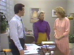 Paul Robinson, Helen Daniels, Madge Ramsay in Neighbours Episode 0675