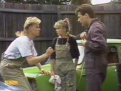 Scott Robinson, Charlene Robinson, Tony Romeo in Neighbours Episode 0675