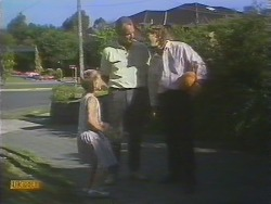Katie Landers, Jim Robinson, Henry Ramsay in Neighbours Episode 0676