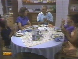 Katie Landers, Beverly Marshall, Jim Robinson, Todd Landers, Lucy Robinson in Neighbours Episode 0677