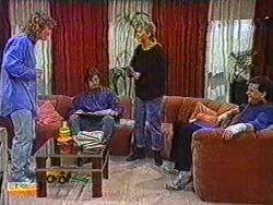 Henry Ramsay, Mike Young, Bronwyn Davies, Des Clarke in Neighbours Episode 0823