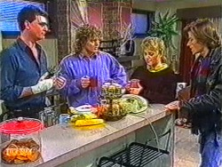 Des Clarke, Henry Ramsay, Bronwyn Davies, Mike Young in Neighbours Episode 0823