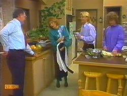 Harold Bishop, Madge Bishop, Scott Robinson, Henry Ramsay in Neighbours Episode 0824