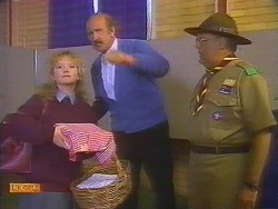 Sharon Davies, Reverend Sampson, Harold Bishop in Neighbours Episode 0826
