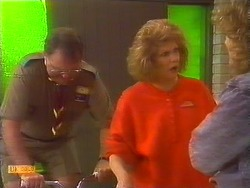 Harold Bishop, Madge Bishop, Henry Ramsay in Neighbours Episode 0826