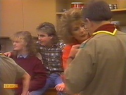 Sharon Davies, Nick Page, Madge Bishop, Harold Bishop in Neighbours Episode 0826