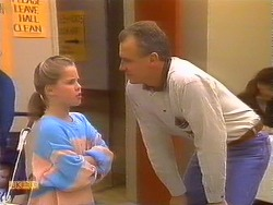 Katie Landers, Jim Robinson in Neighbours Episode 0827
