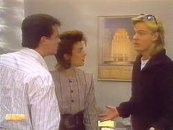 Paul Robinson, Gail Robinson, Scott Robinson in Neighbours Episode 0827