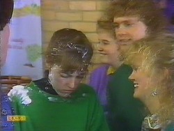 Jackie Vidor, Bronwyn Davies, Henry Ramsay, Sharon Davies in Neighbours Episode 0828