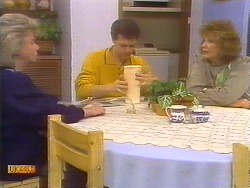 Helen Daniels, Paul Robinson, Madge Bishop in Neighbours Episode 0829