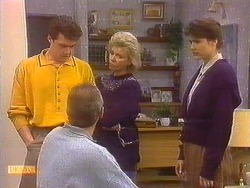 Paul Robinson, Jim Robinson, Helen Daniels, Beverly Robinson in Neighbours Episode 0830