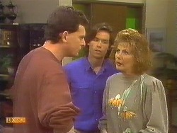 Des Clarke, Mike Young, Madge Bishop in Neighbours Episode 0830