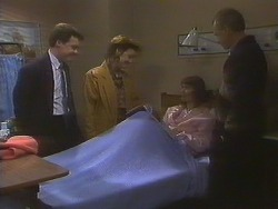 Paul Robinson, Gail Robinson, Beverly Marshall, Jim Robinson in Neighbours Episode 0831
