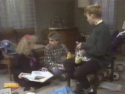 Sharon Davies, Nick Page, Bronwyn Davies in Neighbours Episode 0832