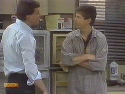 Des Clarke, Joe Mangel in Neighbours Episode 0833