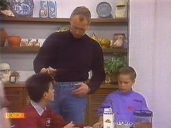Todd Landers, Jim Robinson, Katie Landers in Neighbours Episode 0836