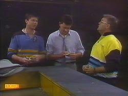 Joe Mangel, Des Clarke, Harold Bishop in Neighbours Episode 0837