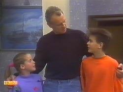 Katie Landers, Jim Robinson, Todd Landers in Neighbours Episode 0837