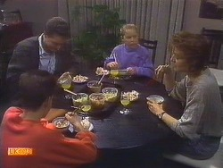 Todd Landers, Paul Robinson, Katie Landers, Gail Robinson in Neighbours Episode 0837
