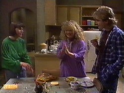 Jessie Ross, Sharon Davies, Nick Page in Neighbours Episode 0838