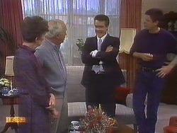 Nell Mangel, John Worthington, Paul Robinson, Joe Mangel in Neighbours Episode 0839