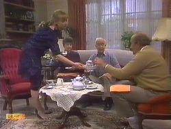 Jane Harris, Nell Mangel, John Worthington, Reverend Sampson in Neighbours Episode 0839
