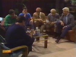 Paul Robinson, Joe Mangel, Des Clarke, Reverend Sampson, John Worthington, Charles Spencer in Neighbours Episode 0839