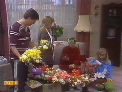 Joe Mangel, Bronwyn Davies, Nell Mangel, Jane Harris in Neighbours Episode 0840