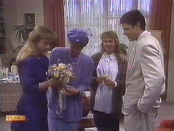Jane Harris, Nell Mangel, Bronwyn Davies, Joe Mangel in Neighbours Episode 0840