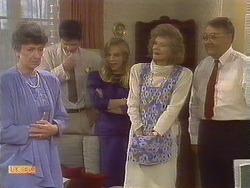 Nell Mangel, Joe Mangel, Jane Harris, Madge Bishop, Harold Bishop in Neighbours Episode 0841