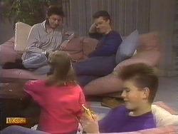 Gail Robinson, Katie Landers, Paul Robinson, Todd Landers in Neighbours Episode 0842