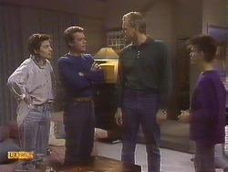 Gail Robinson, Paul Robinson, Jim Robinson, Todd Landers in Neighbours Episode 0842