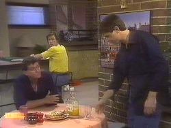 Des Clarke, Mike Young, Joe Mangel in Neighbours Episode 0842